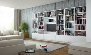 Regalsystem im Wohnzimmer