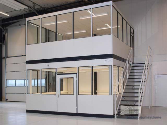 Doppelstöckiges Hallenbüro für Gewerbeimmobilien