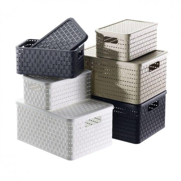 aufbewahrungsboxen mit kisten boxen ordnung schaffen. Black Bedroom Furniture Sets. Home Design Ideas