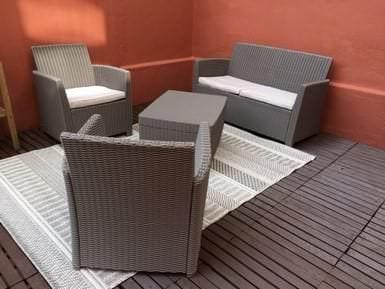Sitzgarnitur für den Garten